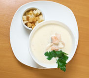 Salmon cream soup Stock Photography