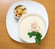 Salmon cream soup Stock Photography