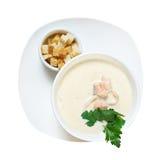 Salmon cream soup Stock Photos