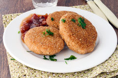 Salmon croquettes Stock Images