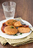 Salmon croquettes Royalty Free Stock Photo