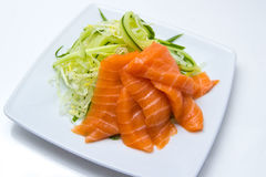 Salmon with cucumber Royalty Free Stock Image