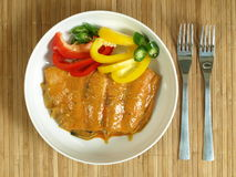 Salmon curry fillet royalty free stock image