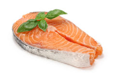 Salmon cutlet Royalty Free Stock Images