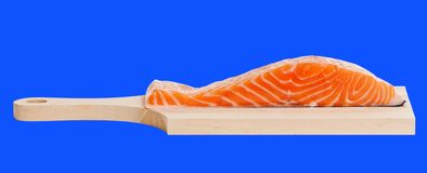 Salmon on a desk. Royalty Free Stock Images