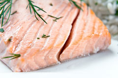 Salmon with dill Stock Photo