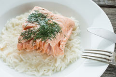 Salmon with dill Stock Image