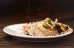 Salmon dinner royalty free stock image