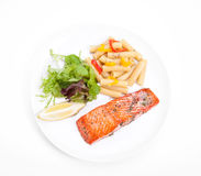 Salmon dinner Royalty Free Stock Image