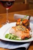 Salmon Dinner Royalty Free Stock Photo
