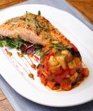 Salmon Dinner Stock Photography