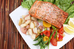 Salmon Dinner Stock Photos