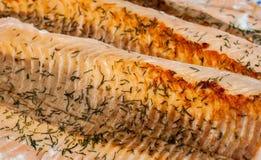 Salmon Dinner Stockfoto