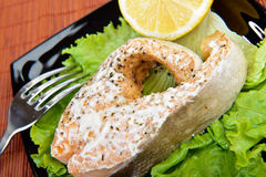 Salmon Dinner Royalty Free Stock Photography