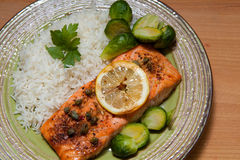 Salmon dish Royalty Free Stock Image