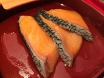 Salmon in a dish Stock Images