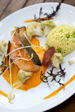 Salmon dish Royalty Free Stock Image