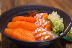 Salmon don, japanese food very delicious Stock Photos
