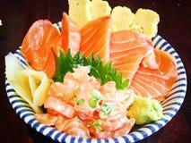 Salmon Donburi Royalty Free Stock Photos