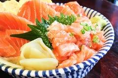 Salmon Donburi Stock Photography