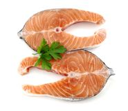 Salmon duo Royalty Free Stock Image