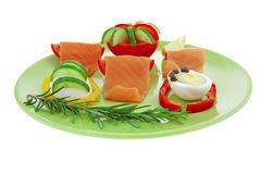 Salmon and egg Royalty Free Stock Photo