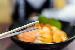 A Salmon Egg. Stock Photos