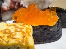 Salmon egg sushi Royalty Free Stock Photos
