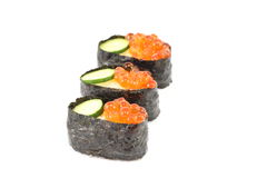 Salmon Egg Sushi Stock Photos