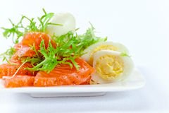 Salmon with egg Royalty Free Stock Photo