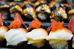 Salmon eggs sushi Stock Photo
