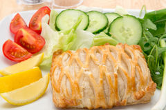 Salmon en Croute Royalty Free Stock Photography