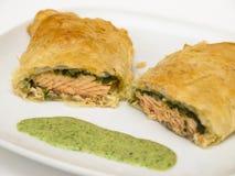 Salmon en croute Stock Images