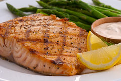 Salmon Entree Royalty Free Stock Photos