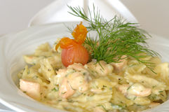 Salmon Farfalle Stock Images