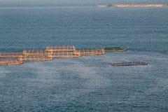 Salmon Farms in het Overzees, Ierland royalty-vrije stock afbeeldingen