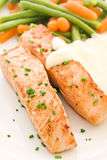 Salmon filet with Beans Royalty Free Stock Photo
