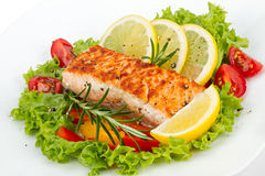Salmon filet Stock Photography