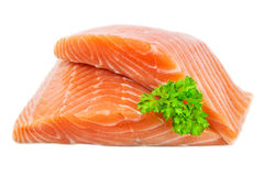 Salmon - filet - steak Royalty Free Stock Photo