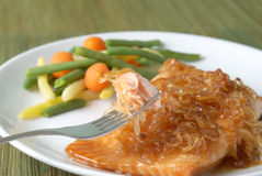 Salmon Filet with Vegetables Stock Photography