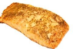 Salmon filet on white background. Salmon filet with fresh dill and lemon on a white background Stock Photos