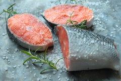 Salmon filets Royalty Free Stock Photo
