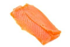 Salmon fillet. Fresh smoked salmon fillet isolated over white Royalty Free Stock Photos