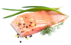 Salmon fillet Stock Image