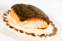 Salmon fillet with crispy crust Royalty Free Stock Photography