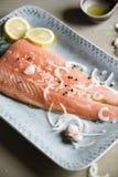 Salmon fillet food photography recipe idea stock photography