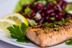 Salmon fillet grilled Stock Photography
