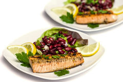 Salmon fillet grilled Royalty Free Stock Photography