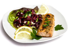Salmon fillet grilled Royalty Free Stock Photo