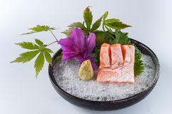 Salmon. Fillet on Ice,kaiseki Royalty Free Stock Image